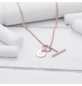 Brass & Unity Jewelry Inc. Charm Necklace, Rose Gold Short