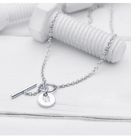 Brass & Unity Jewelry Inc. Charm Necklace, Silver Short