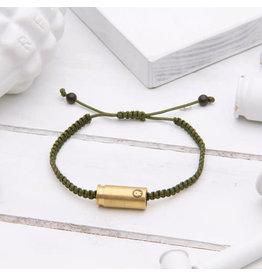 Brass & Unity Jewelry Inc. Military Green/Olive Warrior Adj. Rope Bracelet