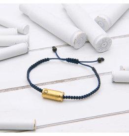 Brass & Unity Jewelry Inc. Navy Blue Warrior Adj. Rope Bracelet