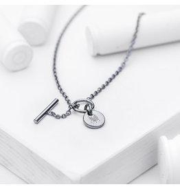 Brass & Unity Jewelry Inc. Charm Necklace, Black Short