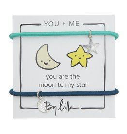 By Lilla You Are The Moon To My Star, You + Me Hair Ties