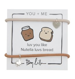 By Lilla Luv You Like Nutella Luvs Bread, You + Me Hair Ties