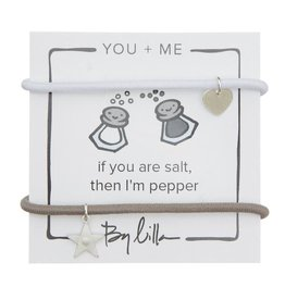 By Lilla Salt Then I'm Pepper, You + Me Hair Ties