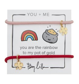 By Lilla You Are the Rainbow to My Pot Of Gold, You + Me Hair Ties