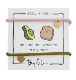 By Lilla You Are The Avocado To My Toast, You + Me Hair Ties