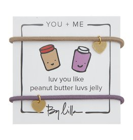 By Lilla Luv You Like Peanut Butter Luvs Jelly, You + Me Hair Ties