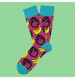 Two Left Feet Funky Monkey Socks