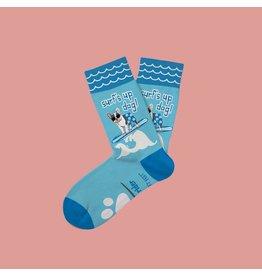 Two Left Feet Kids Socks-Surf's Up Dog
