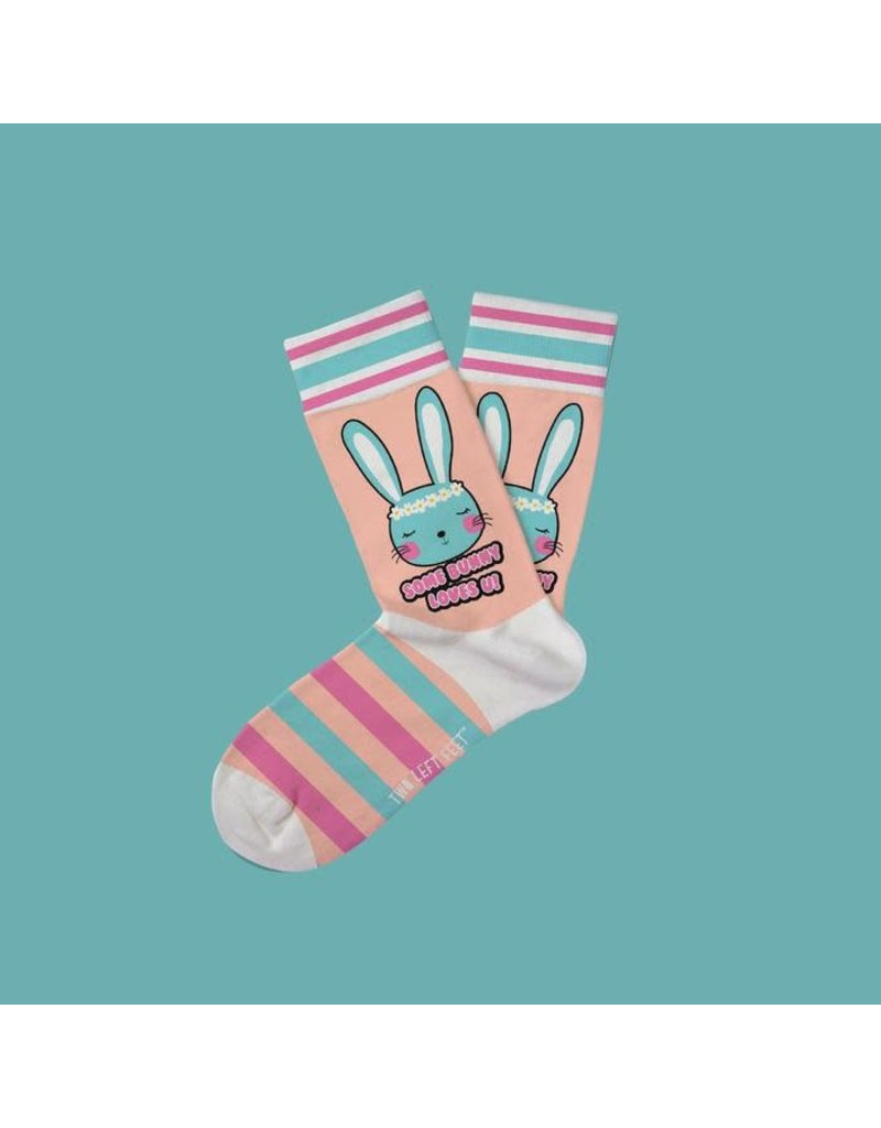 Two Left Feet Kids Socks-Some Bunny Loves Us