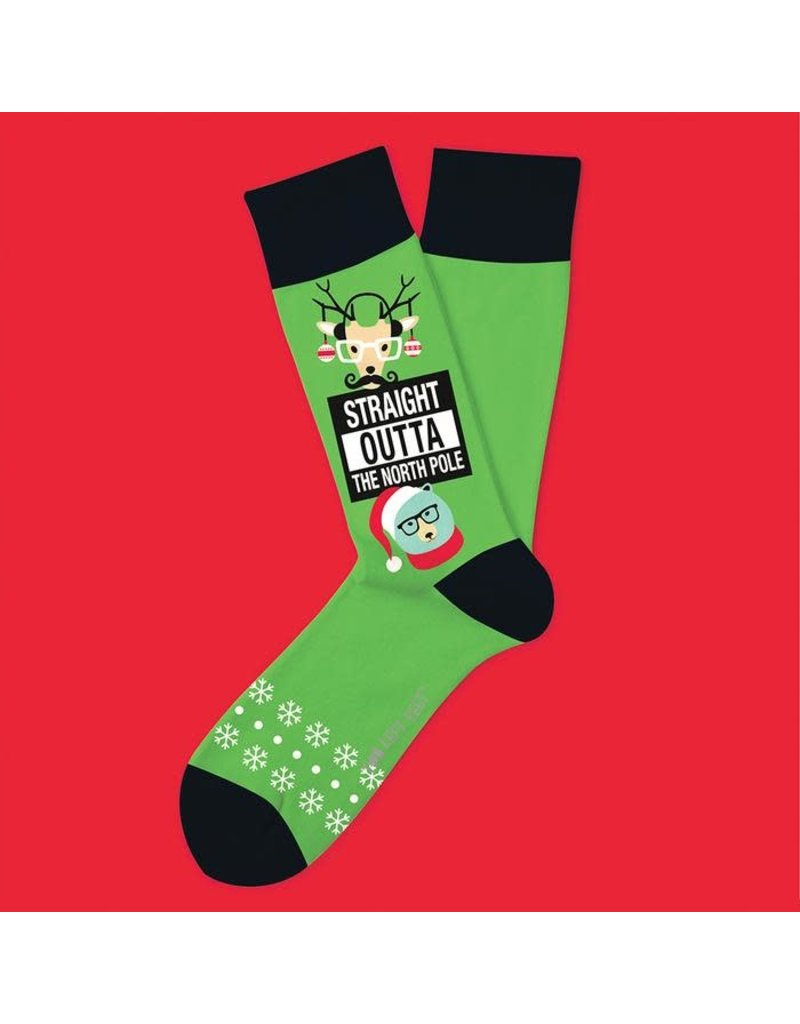 Two Left Feet Straight Outta The North Pole Socks