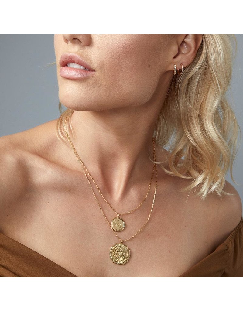 Gorjana Mosaic Coin Necklace, Gold