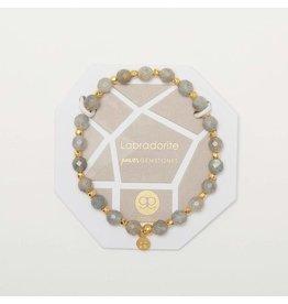 Gorjana Power Gemstone Elastic Bracelet-Balance (Labradorite-Gold)