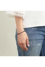 Gorjana Power Gemstone Elastic Bracelet-Energy (Garnet-Silver)