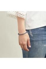 Gorjana Power Gemstone Elastic Bracelet-Wisdom (Lapis-Silver)