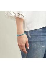 Gorjana Power Gemstone Elastic Bracelet-Healing (Turquoise-Gold)