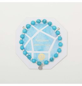 Gorjana Power Gemstone Elastic Bracelet-Healing (Turquoise-Silver)