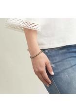 Gorjana Power Gemstone Elastic Bracelet-Strength (Pyrite-Gold)