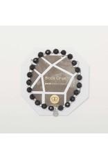 Gorjana Power Gemstone Elastic Bracelet-Protection (Black Onyx-Silver)