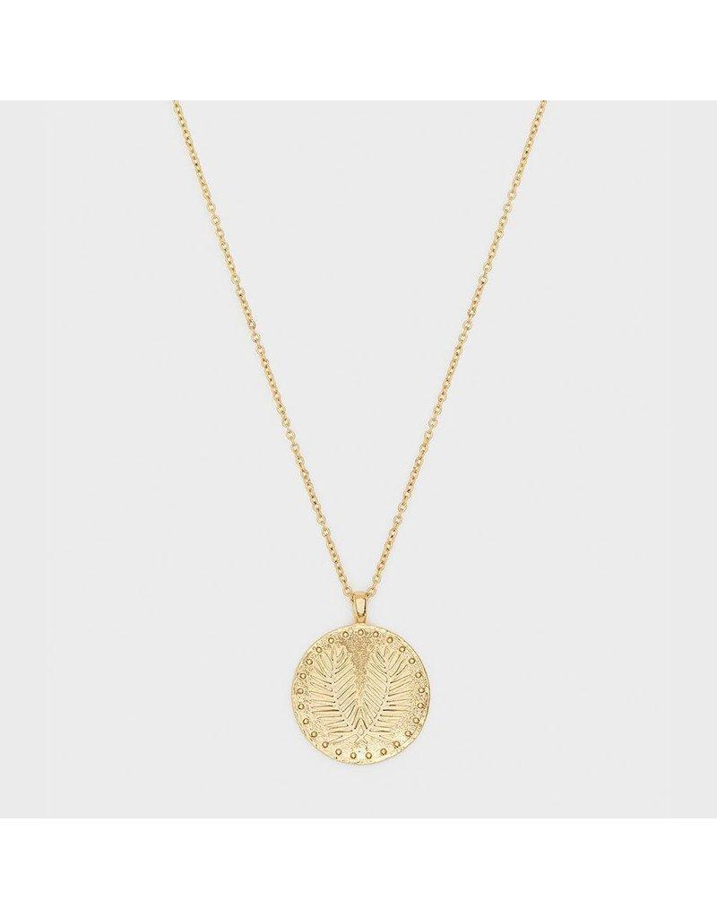 Gorjana Palm Coin Necklace, Gold