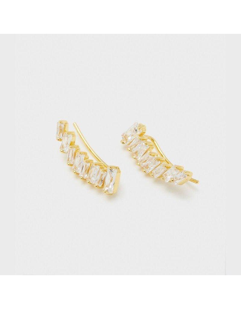 Gorjana Amara Ear Climbers, Gold