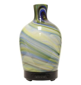 A Cheerful Giver Glass Ultrasonic Diffuser-Sea Glass Vase Artesian