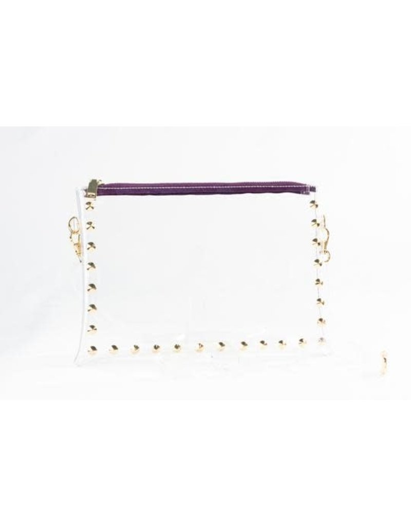 Clearly Handbags The Parker Clear Handbag In Purple