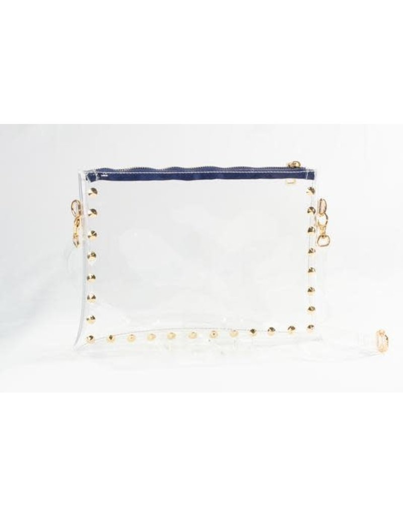 Clearly Handbags The Parker Clear Handbag In Blue