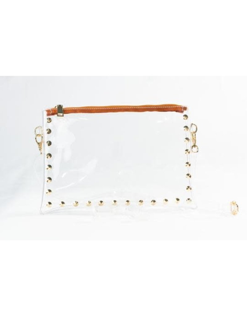 Clearly Handbags The Parker Clear Handbag In Saddle