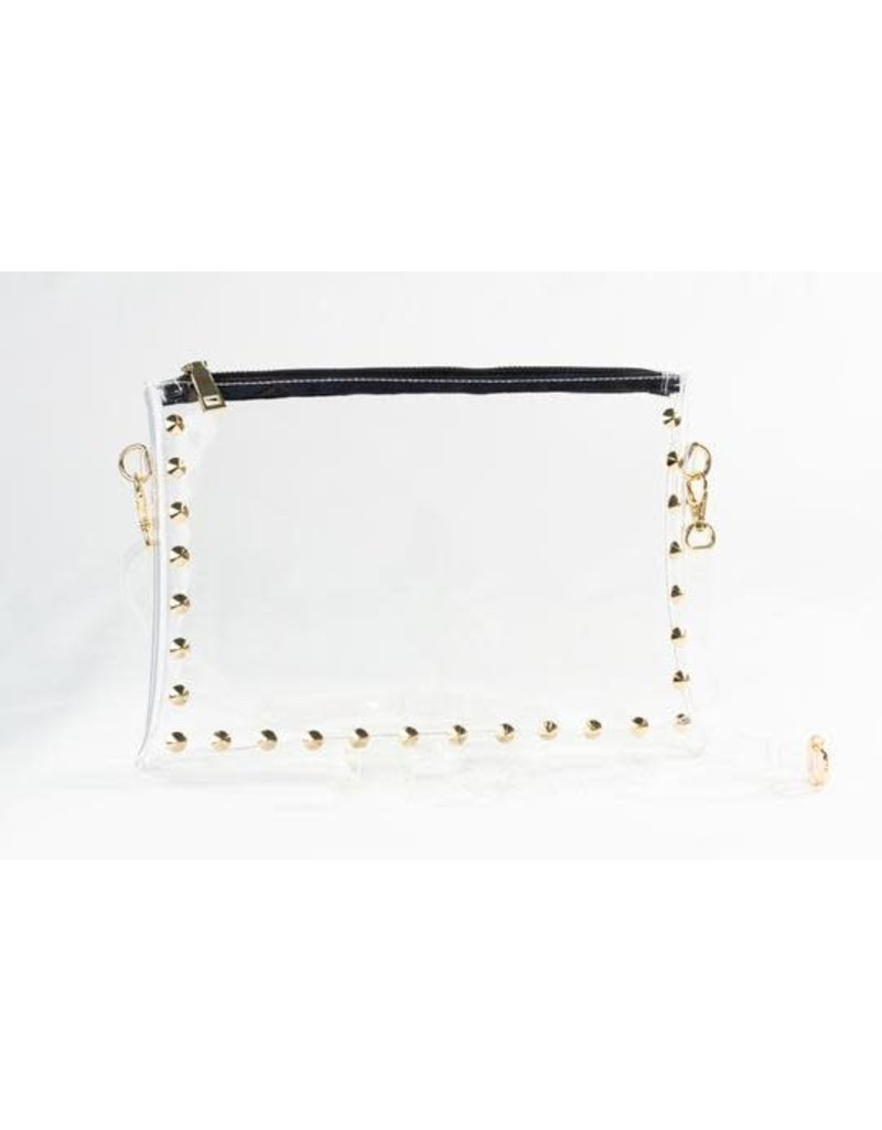 Clearly Handbags The Parker Clear Handbag In Black