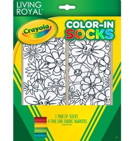 Crayola Flower Fun Color In Socks