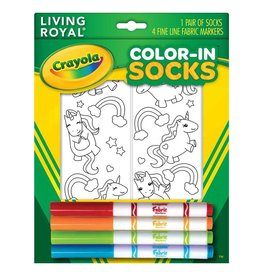 Crayola Unicorn Fun Color In Socks