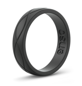 Enso Rings Women's Infinity, Obsidion