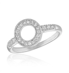 Center Court Circle CZ Stack Ring
