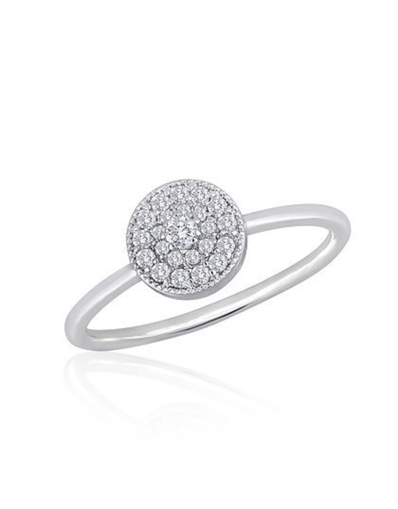 Center Court Round CZ Stack Ring