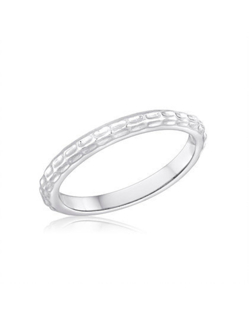 Center Court Dimple Stack Ring