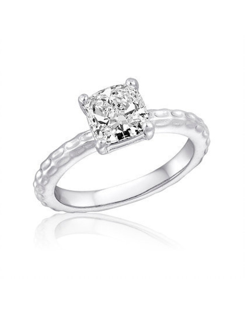 Center Court Large CZ Square Stack Ring