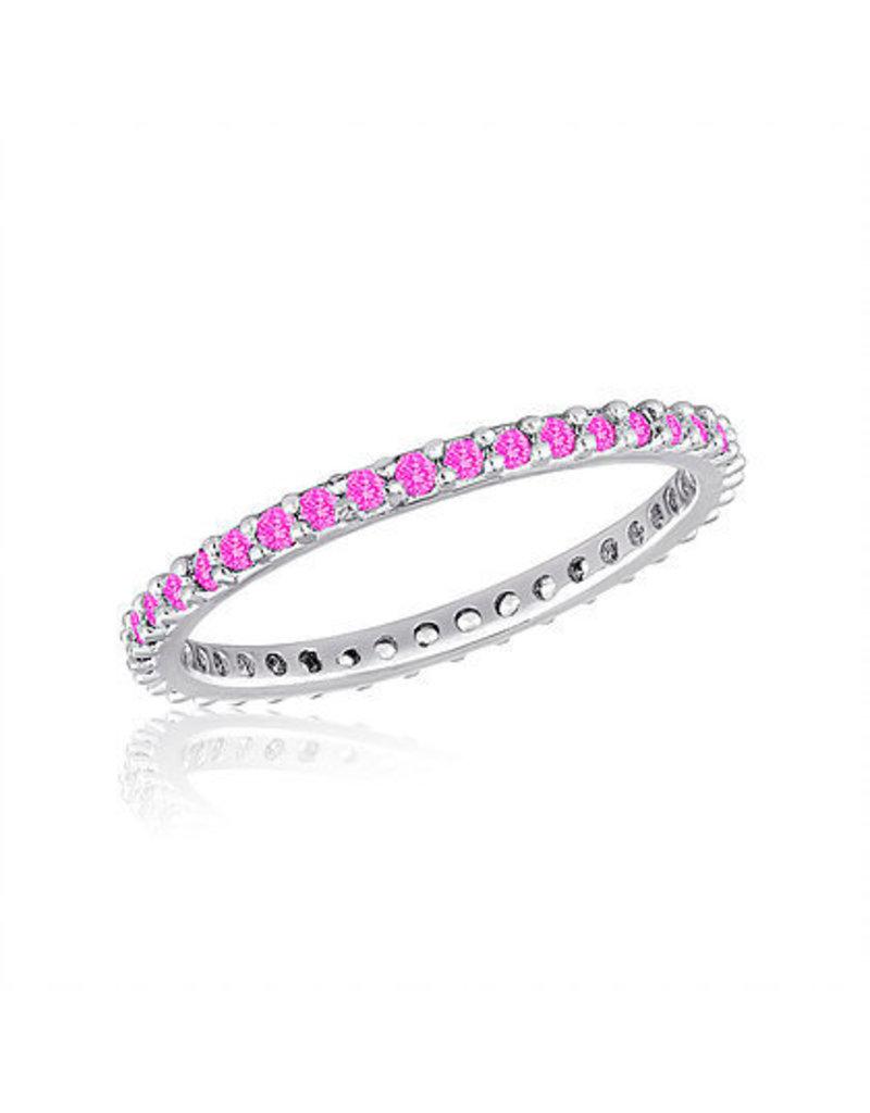 Center Court Thin Diamond Light Rose Stack Ring