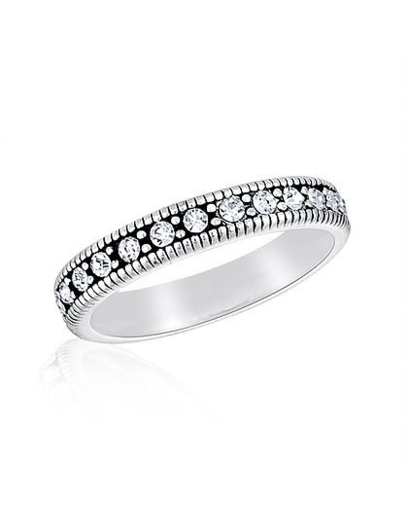 Center Court CZ Eternity Stack Ring