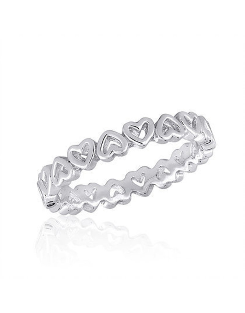 Center Court Heart Band Stack Ring