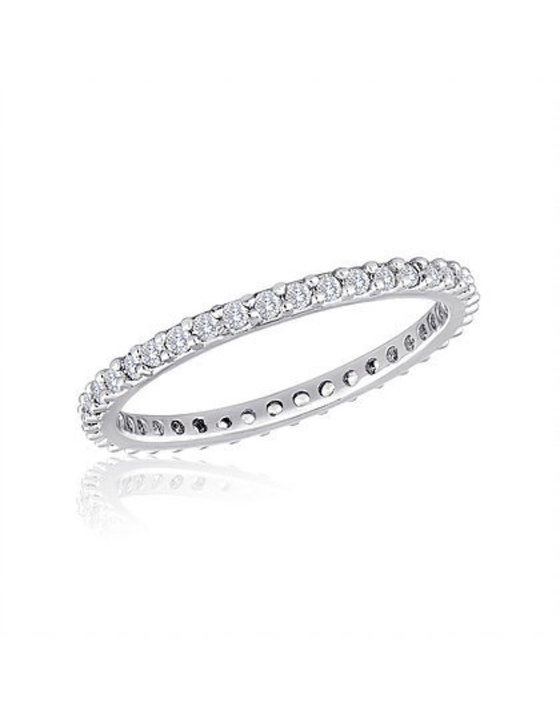 Center Court Thin Diamond Clear Stack Ring
