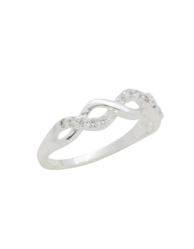 Center Court Infinity CZ Stack Ring