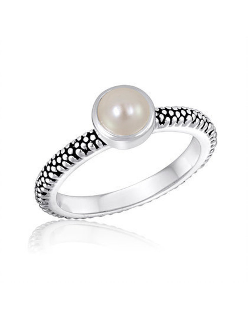 Center Court Pearl Stack Ring