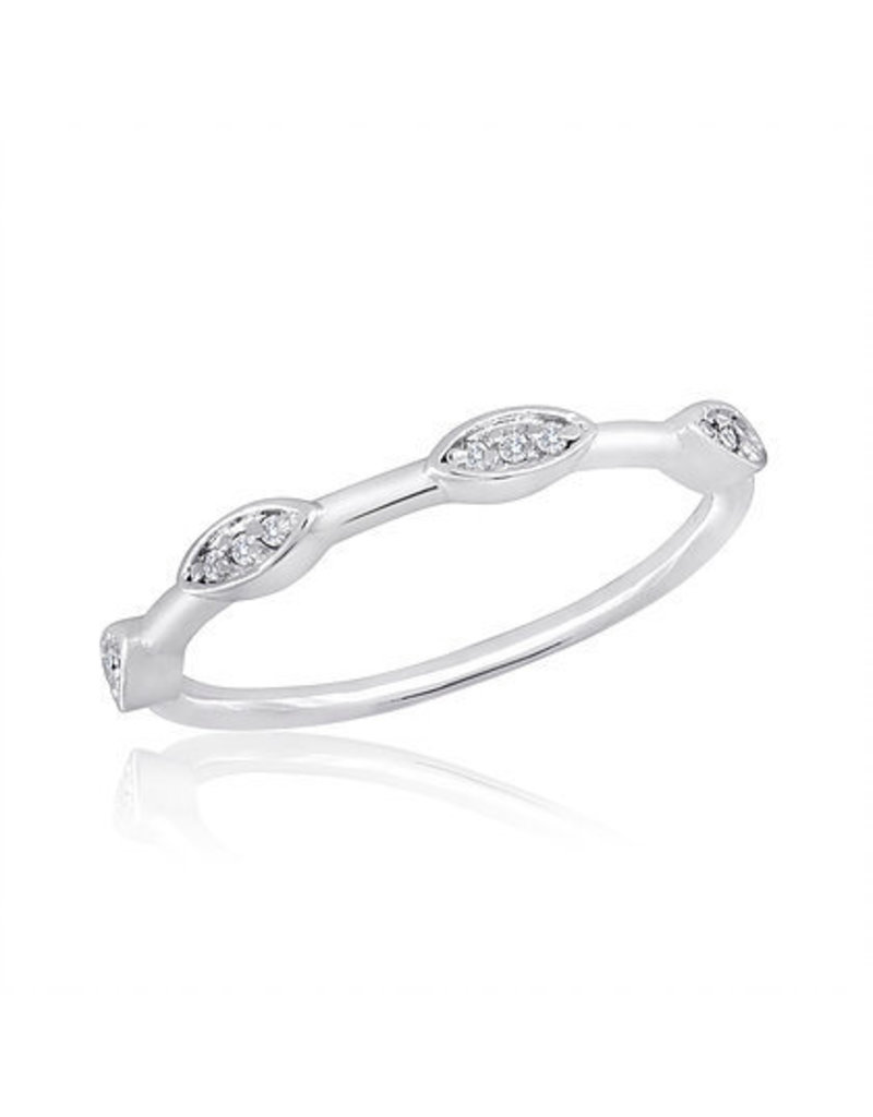 Center Court Spaced Oval Stack Ring