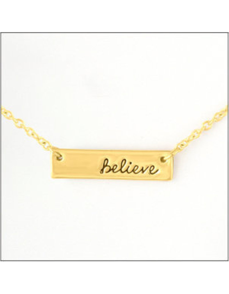 Center Court Layers Necklace-Gold ''Believe'' Tag