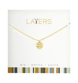Center Court Layers Necklace-Gold Celtic Knot