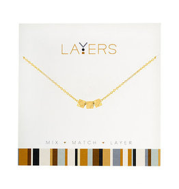 Center Court Layers Necklace-Gold Trio Hexagon