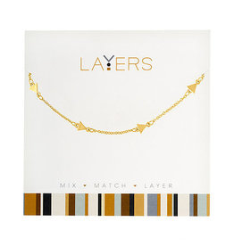 Center Court Layers Necklace-Gold Decorative Triangle