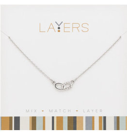 Center Court Layers Necklace-Silver Links