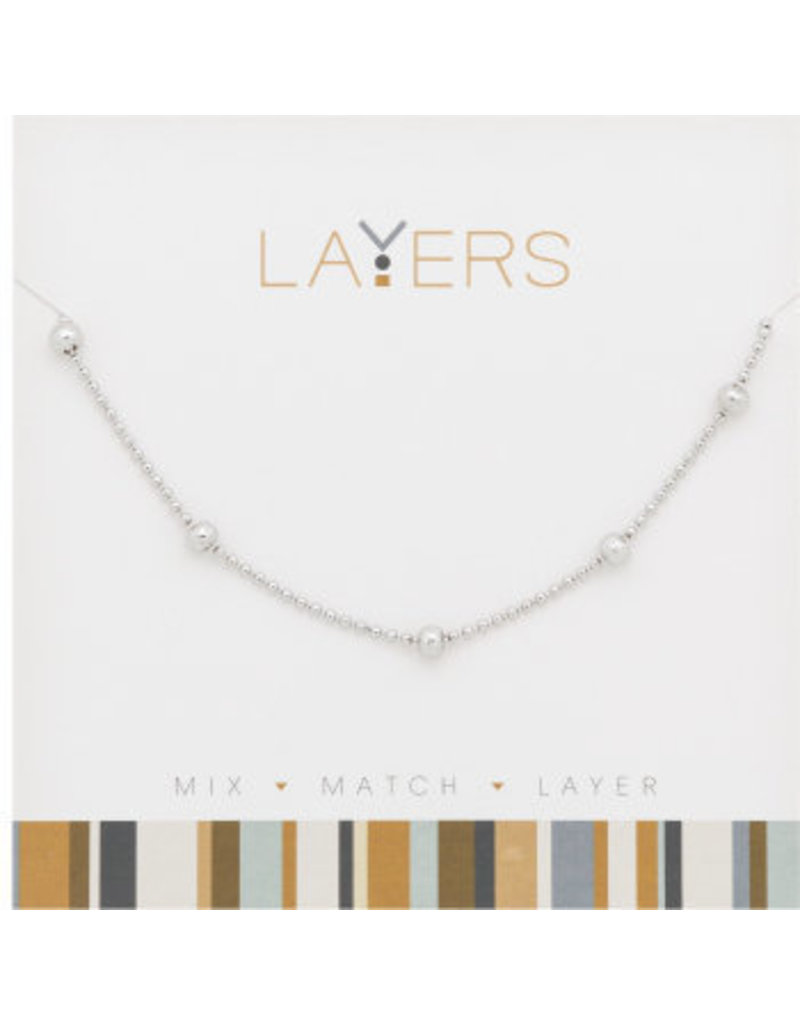 Center Court Layers Necklace-Silver Decorative Ball